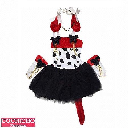 Fantasia Dalmata Vestido Infantil
