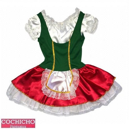 Fantasia Portuguesa Vestido Simples Infantil