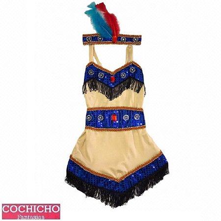 Fantasia Apache Franjas Infantil