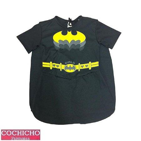 Fantasia Menina Morcego Vestido Simples Infantil