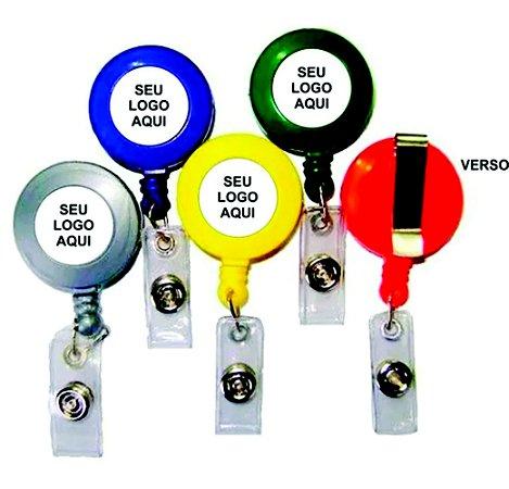 10 Porta Crachá Personalizado Roller Clip