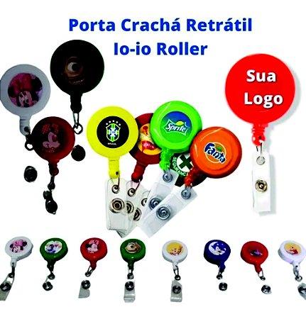 1.000 Porta Crachá Personalizado Roller Clip