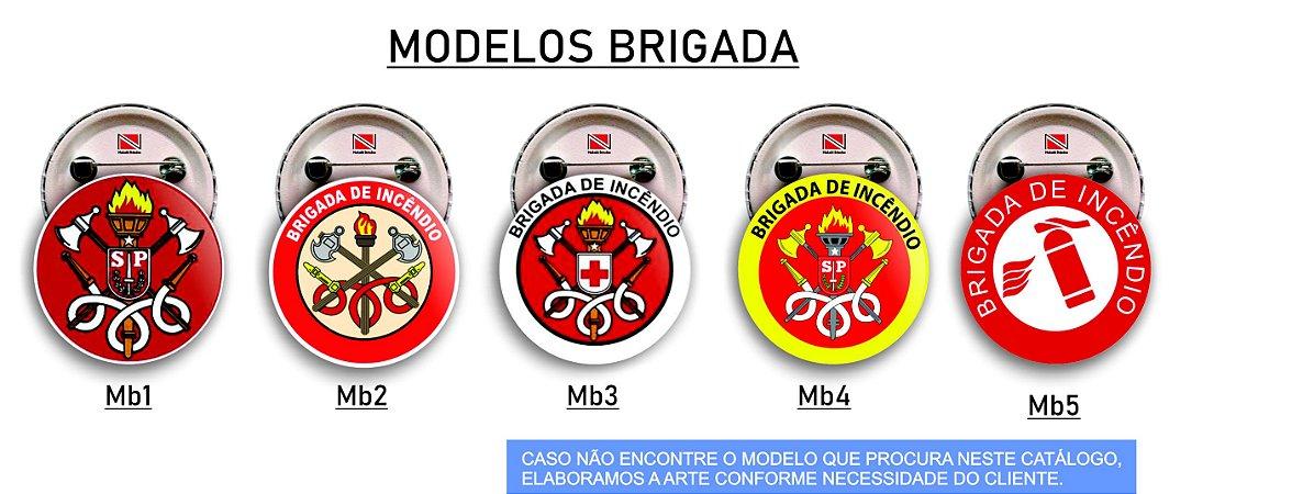 10 Botons Brigada de Incêndio 2,5 cm