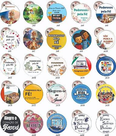 10 Botons Americanos Personalizados Congresso JW  2021 e 2020 3,5 cm