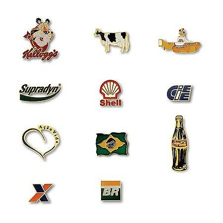Pins Personalizados Resinados, Esmaltados em Baixo ou Alto Relevo