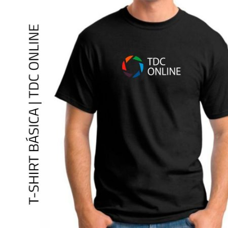 T-SHIRT PRETA BÁSICA | TDC ONLINE