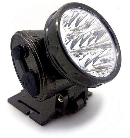 Lanterna De Cabeça 13 Led Muito Forte Recarregavel