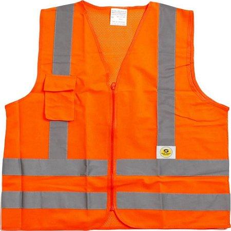Colete Refletivo Super Safety Ziper Com Bolso