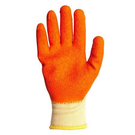 Luva Orangeflex Kalipso Tricota com Banho Látex Corrugado CA 20858