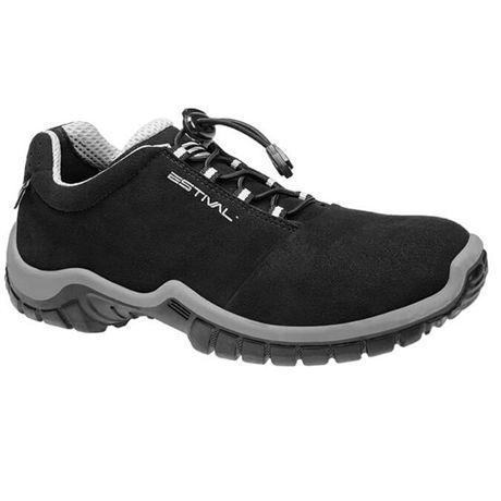 Sapato de Segurança Com Bico de Composite Estival EN10023 Preto/Cinza CA 42554