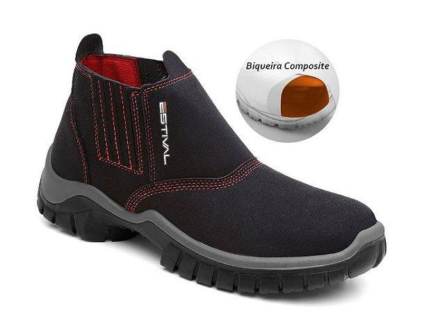Botina de Segurança Estival Condutiva Bico Composite WO10013S2C CA 40962