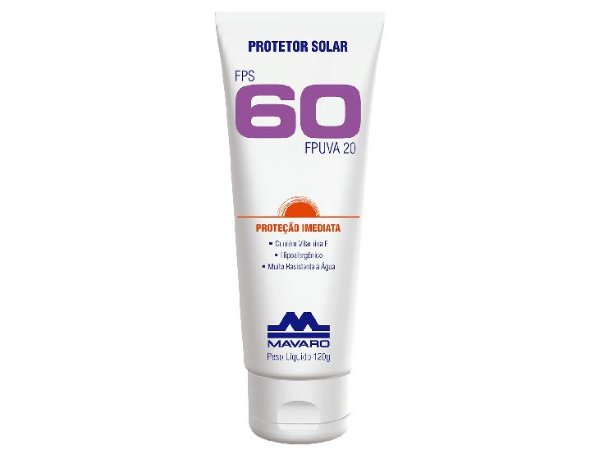 Protetor Solar Mavaro FPS 60 120GR