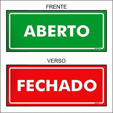 Placa Aberto/Fechado PS507Fv