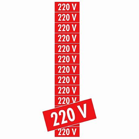 Placa Adesivo Voltagem Fotol. 220v Ps75 13 Unidades