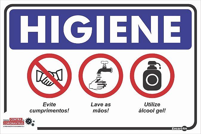Placa Higiene Covid 19 Ps483 30x20