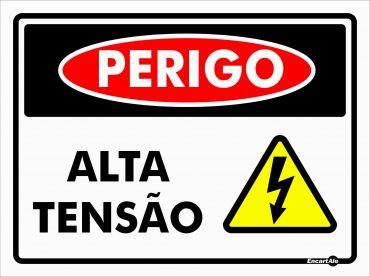 Placa Perigo Alta Tensao Ps128 15x20cm