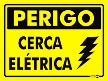 Placa Perigo Cerca Eletrica Ps93 15x20cm