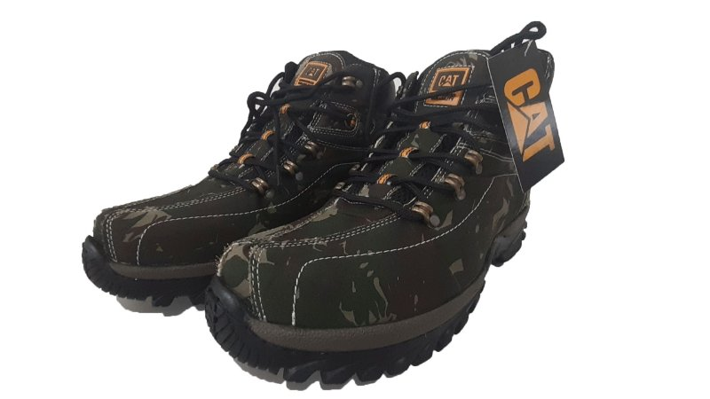 Botina Caterpillar Adventure Camuflado