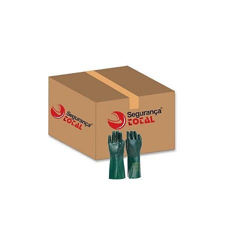 Luva Pvc Handschuhe 35cm Forrada Palma Áspera Caixa com 12 Pares CA 1170