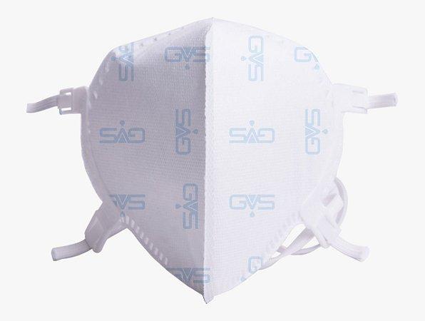 Kit 100 Respirador PFF2 N95 Sem Válvula Aero2 Branca GVS CA 38337