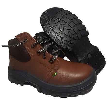 Coturno de Segurança Ecosafety PS139 Chocolate CA 40677