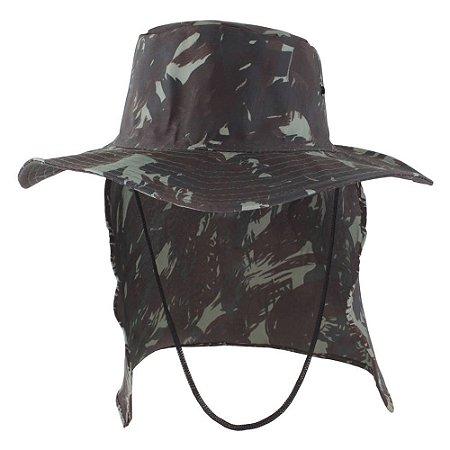 Chapéu Pescador Árabe Com Protetor de Nuca Camuflado