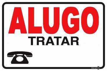 Placa Alugo Tratar Ps29 30x20cm 30x20