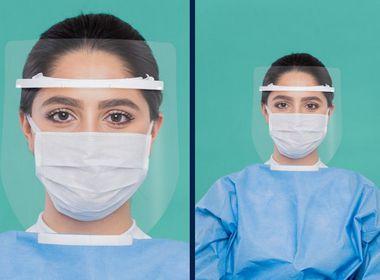 Protetor Facial Contra Gotículas Incolor Face Shield ARM3D Preto