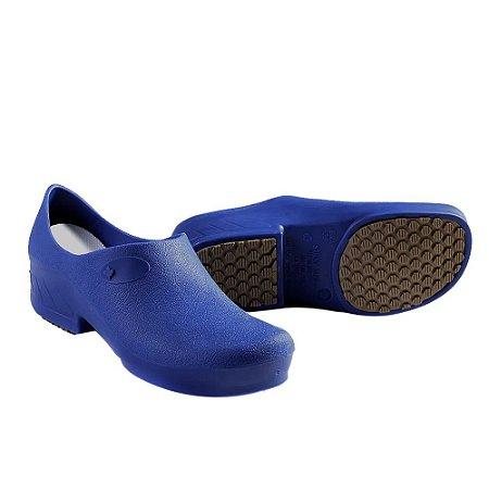Sapato Hospitalar Antiderrapante Impermeável Sticky Shoe Azul