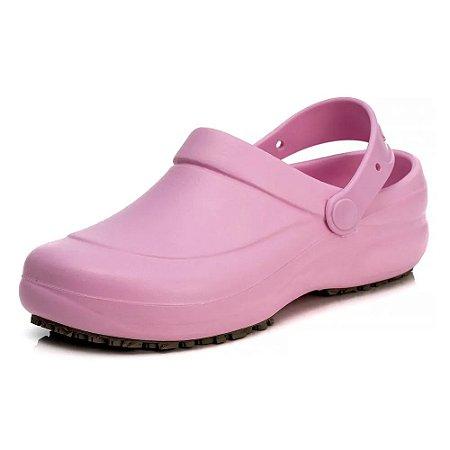 Sapato Babuche Hospitalar Antiderrapante Impermeável Sticky Shoe Rosa
