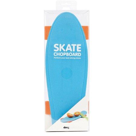 Tábua De Corte Para Alimentos, Skate Azul