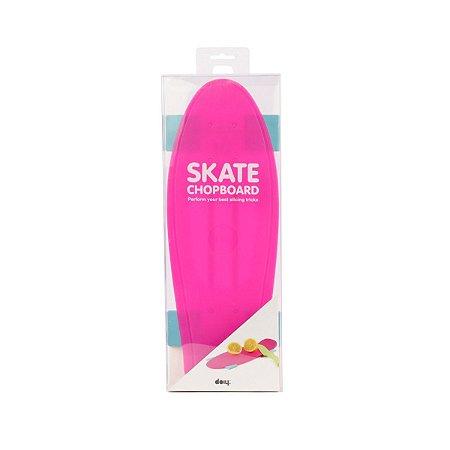 Tábua De Corte Para Alimentos, Skate Rosa