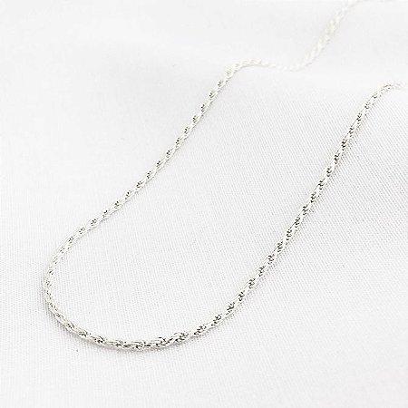 Corrente de Prata Corda de 1,2 mm com 50 cm
