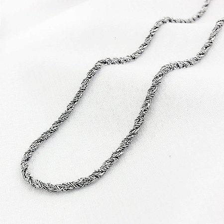 Corrente Aço Trançada com 70 cm