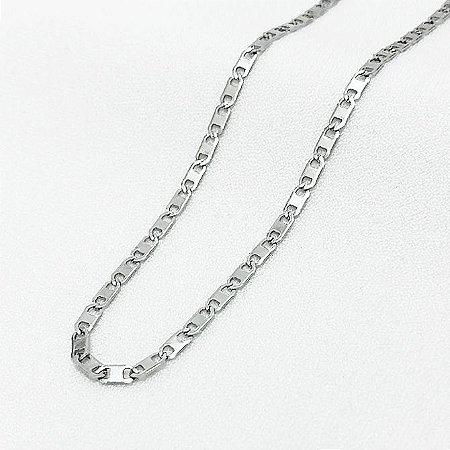 Corrente Aço Piastrine com 65 cm