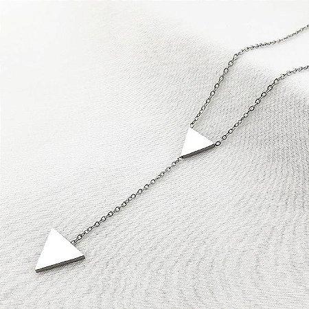 Colar de Aço Triângulos