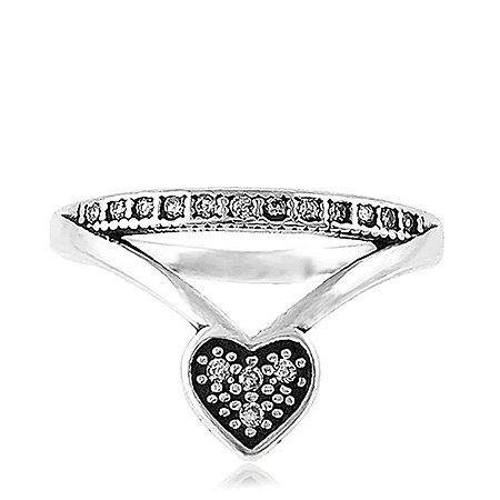 Anel de Prata Zircônia Coroa do Amor