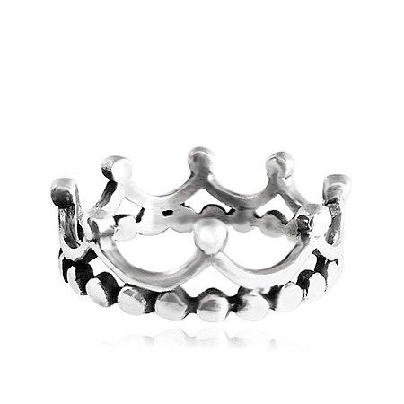 Anel de Prata Coroa do Rei