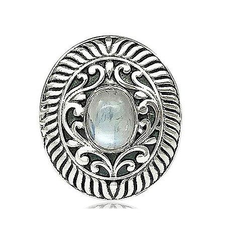 Anel de Prata Pedra da Lua