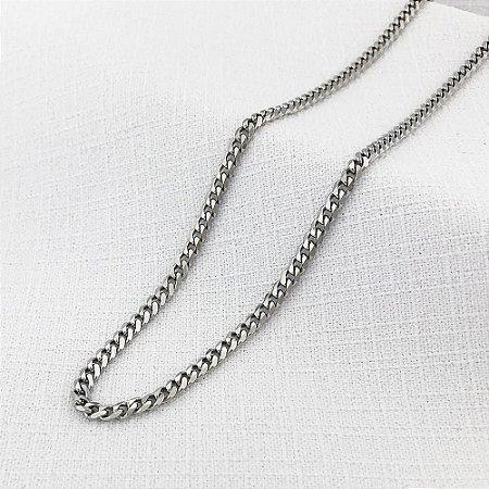 Corrente de Aço Groumet Achatada de 2,8 mm com 65 cm
