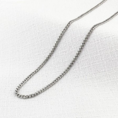 Corrente de Aço Groumet Achatada de 1,4 mm com 55 cm