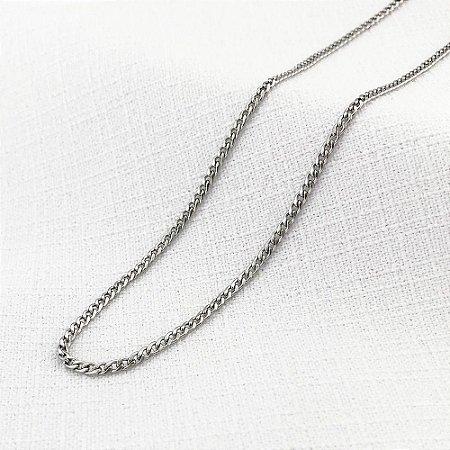 Corrente de Aço Groumet Achatada de 1,4 mm com 60 cm