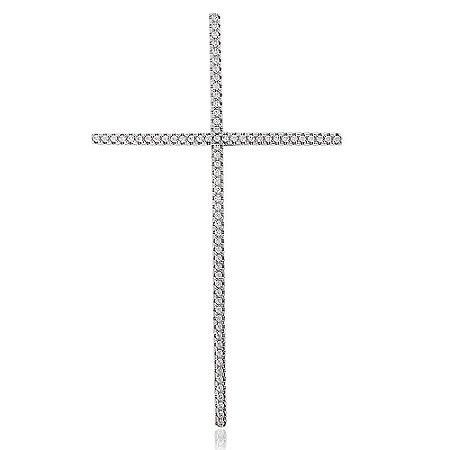 Pingente Cruz com Zircônias Prata 925