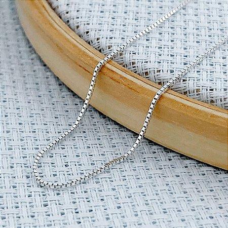 Corrente Prata Veneziana de 0,5 mm com 60 cm