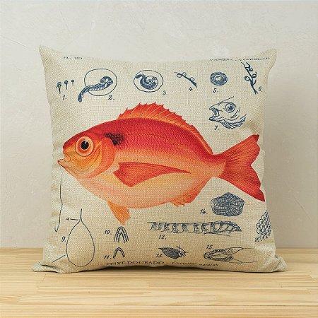 Capa de Almofada Peixe-Dourado