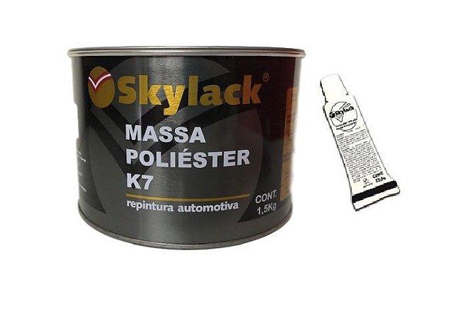 MASSA POLIESTER K7 1,5 KG + CATALISADOR 45G SKYLACK