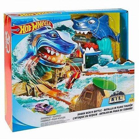 Brinquedo Infantil Pista Hot Wheels City Ataque Do Tubarão