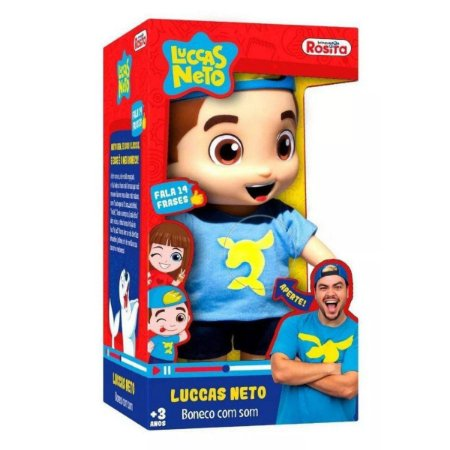 Brinquedo Boneco Luccas Neto Musical
