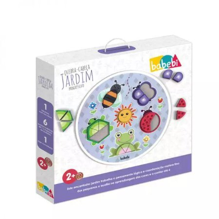 Brinquedo Infantil Educativo Quebra-cabeça Jardim Progressivo