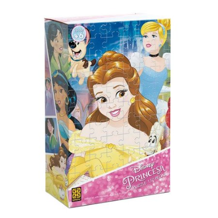 Brinquedo Puzzle Infantil Educativo Princesas Disney 150 Pçs